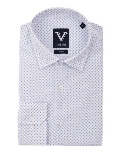Biała koszula z nadrukiem KE2039