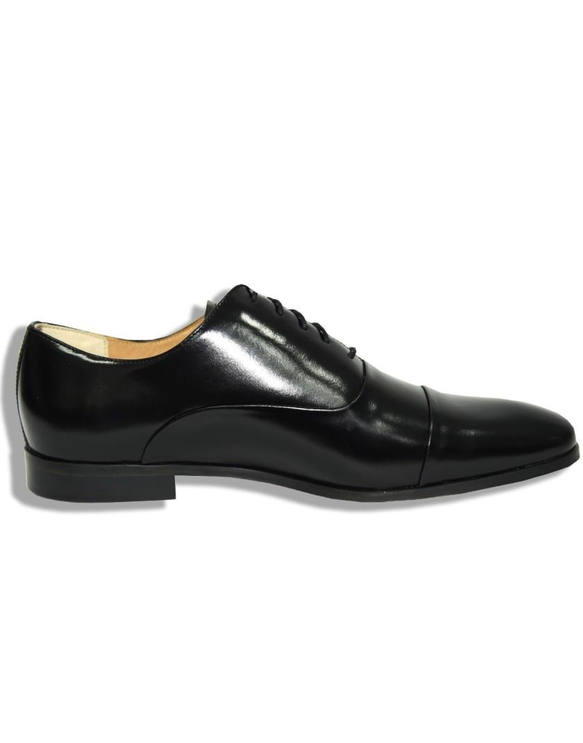 Czarne buty męskie z połyskiem OA1182