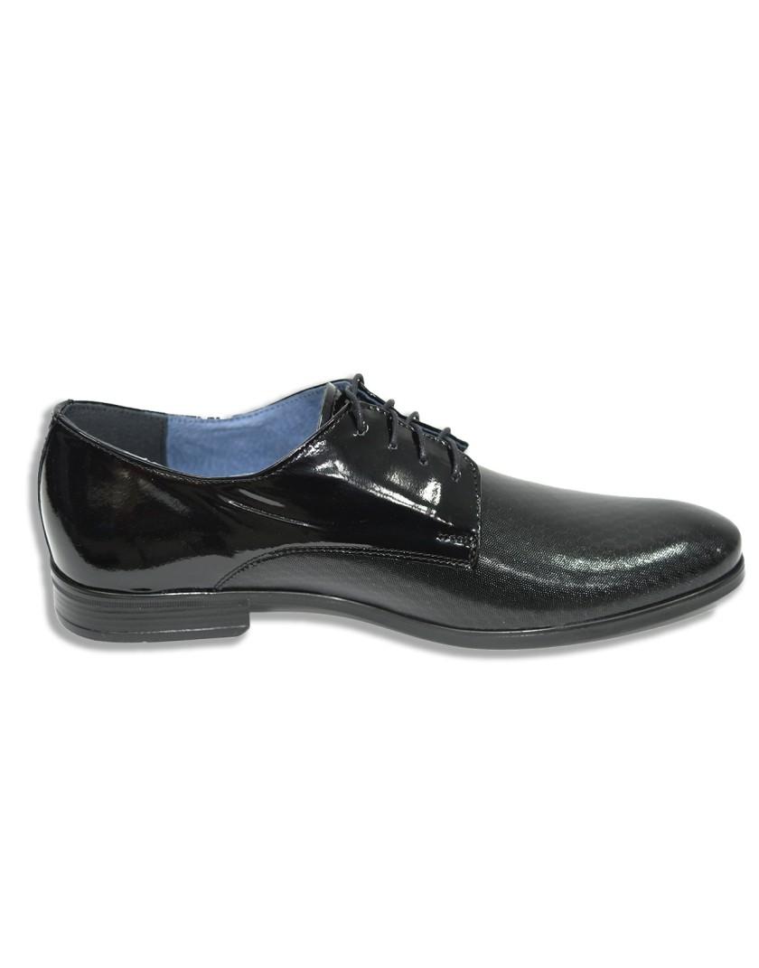 Czarne eleganckie buty męskie OA0879