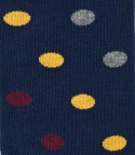 Granatowe skarpety w grochy BW1183