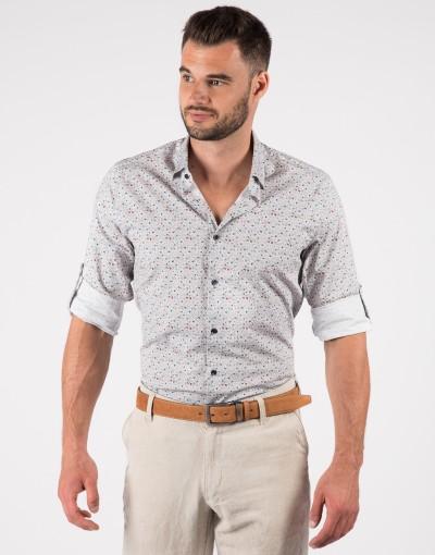 Koszula męska w delikatny kwiatowy wzór KT4072