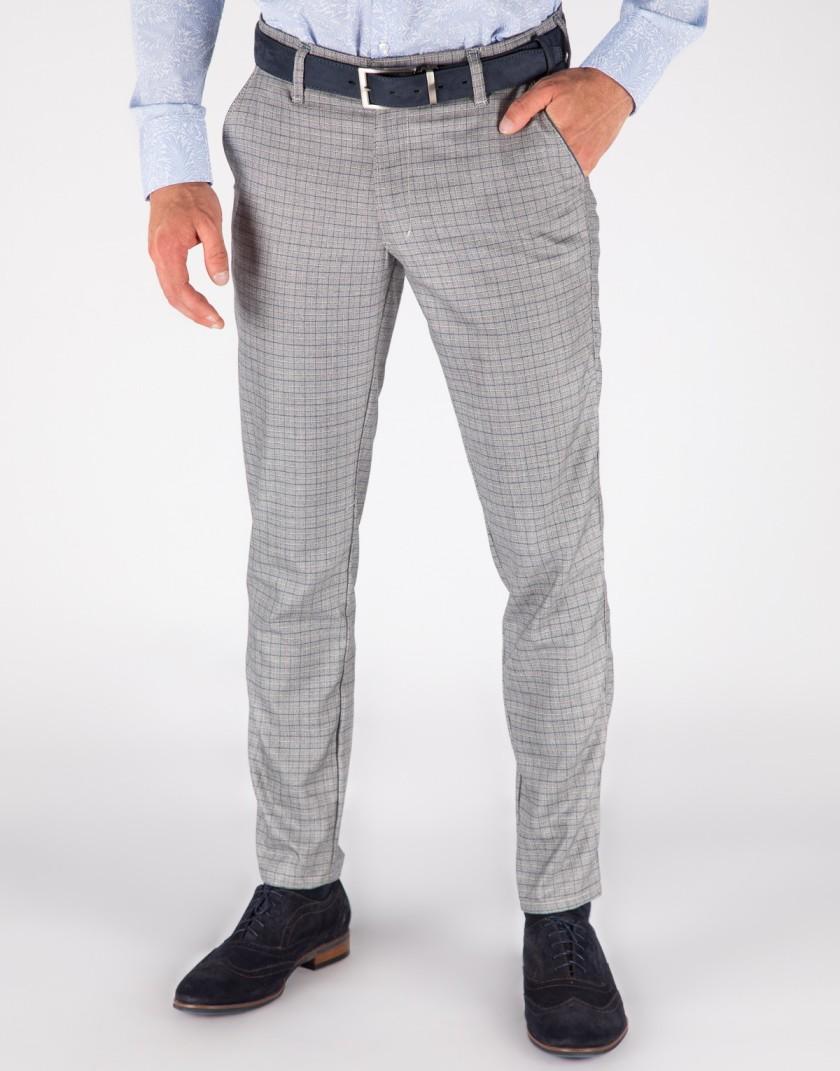 Spodnie męskie w drobną kratkę SH0135