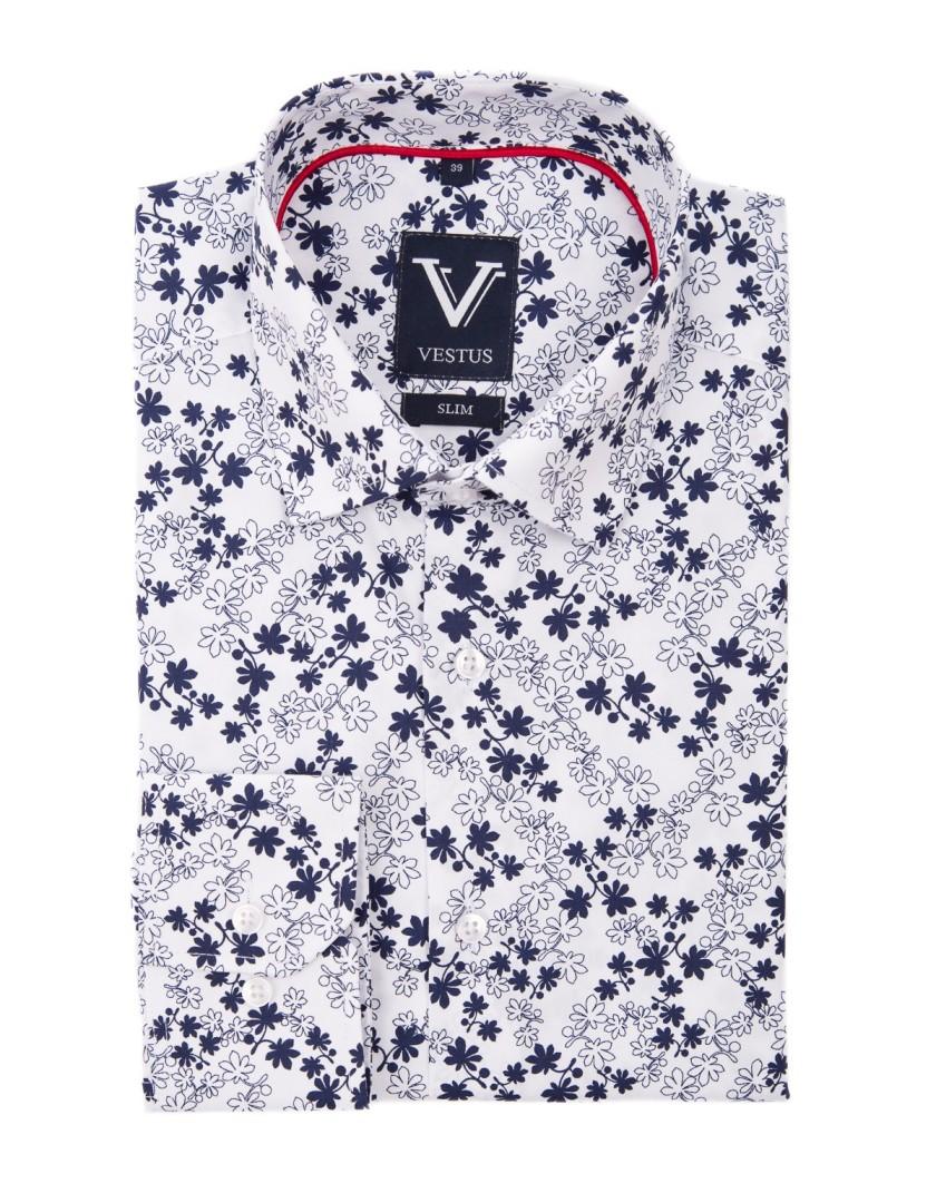 Koszula męska w kwiaty KR1047