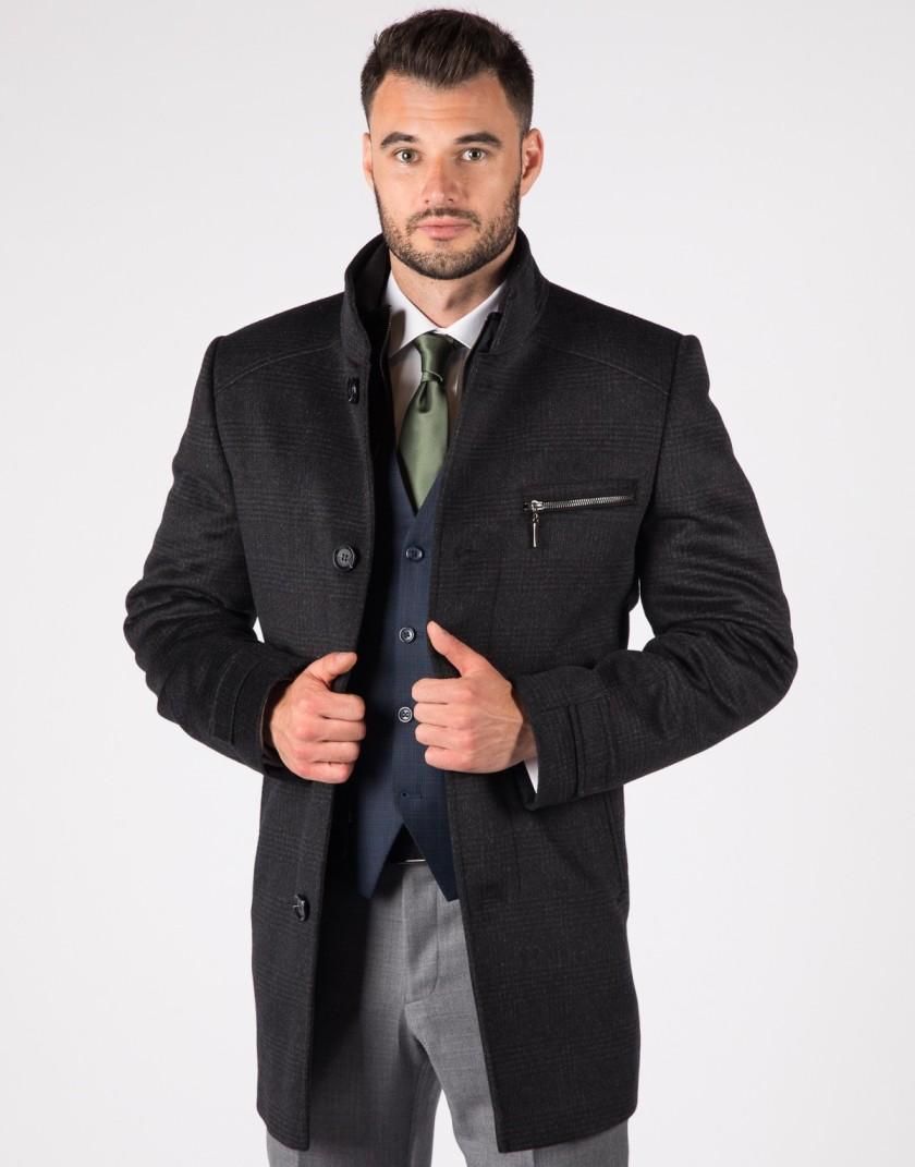 Wełniany płaszcz męski ZL0153