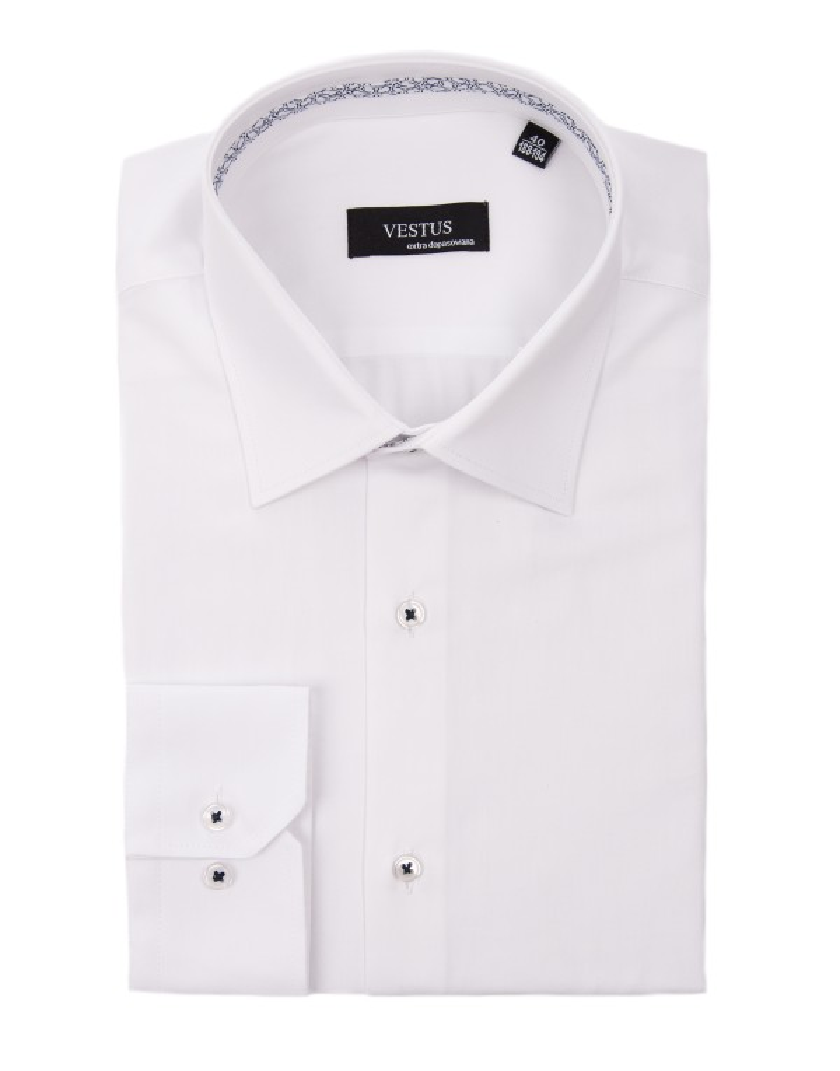 Biała koszula z wstawką KT4019