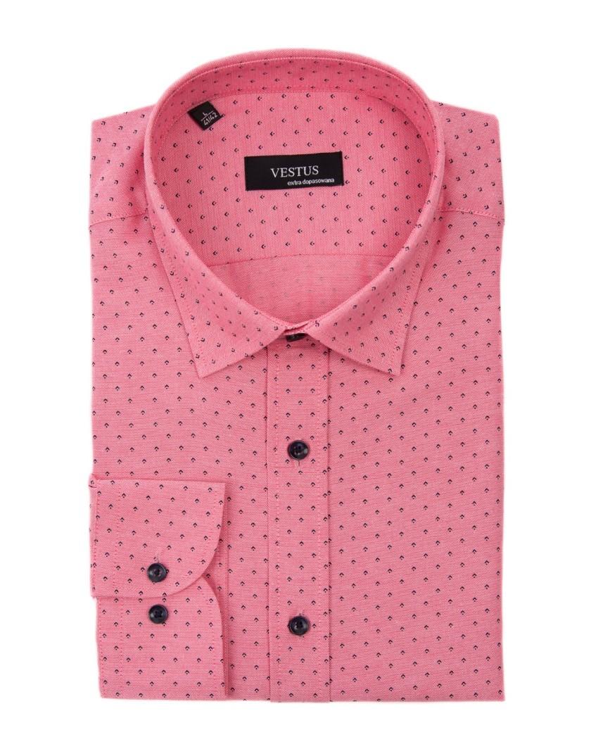 Łososiowa koszula męska z nadrukiem KT4036