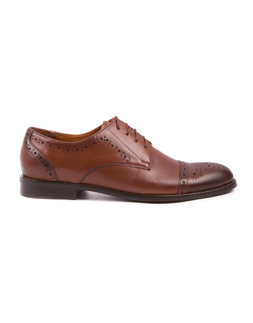 Brązowe buty męskie skórzane OA0887
