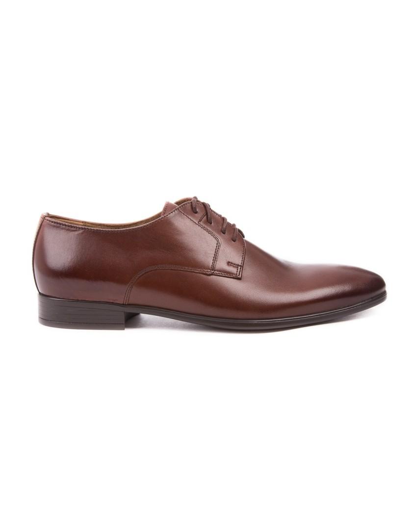 Brązowe buty męskie skórzane OD3405