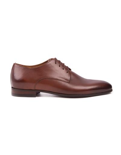 Brązowe buty męskie skórzane OD3815