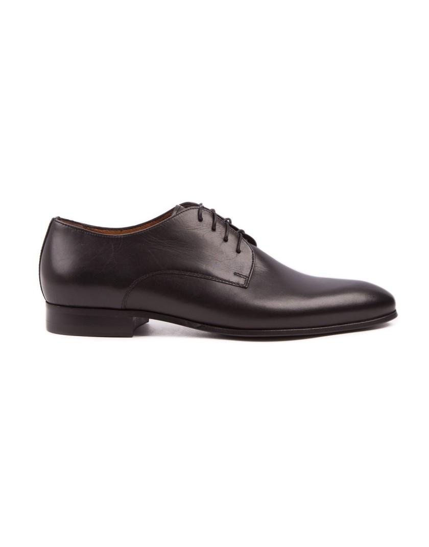 Czarne buty męskie skórzane OD3816