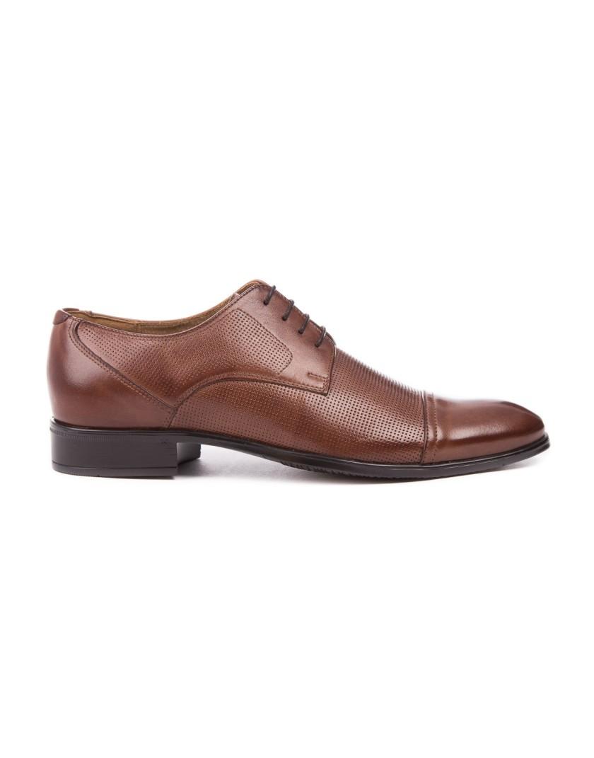 Brązowe buty męskie skórzane OT3678