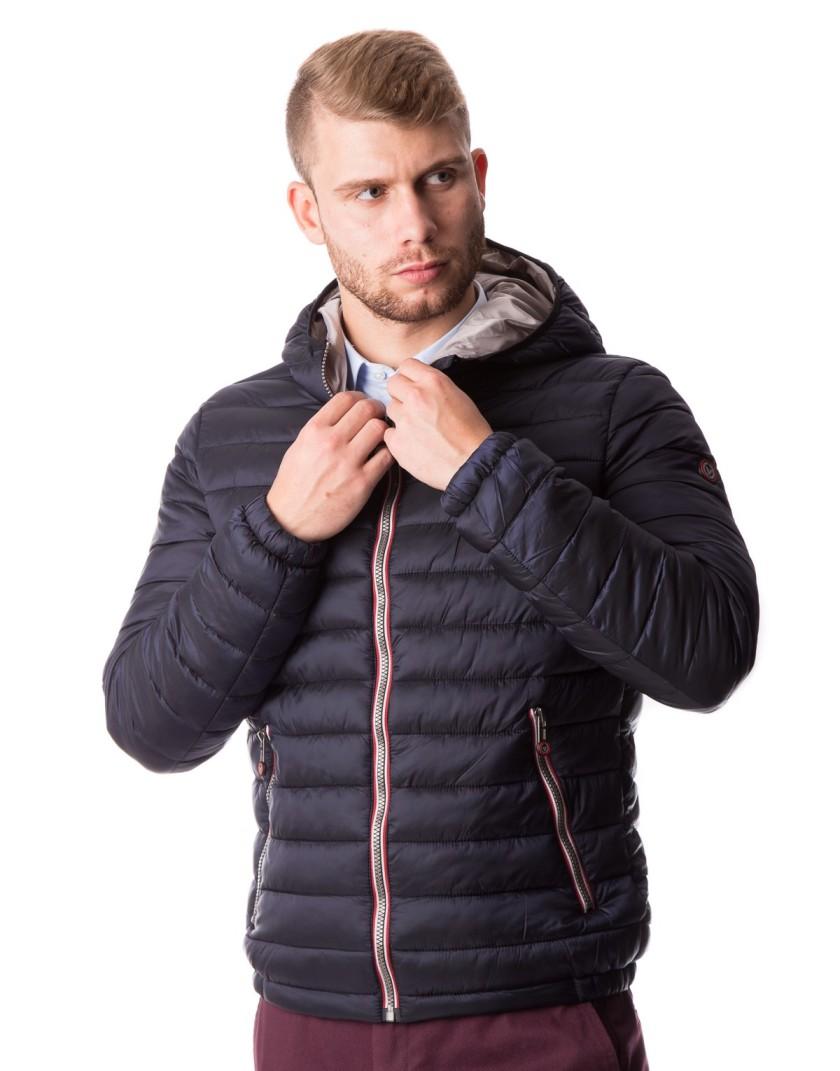Granatowa pikowana kurtka ZP0134