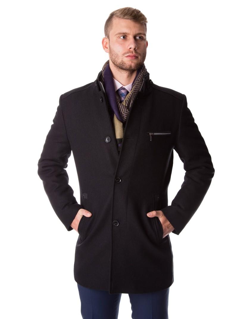 Czarny płaszcz Miłosz ZS0098