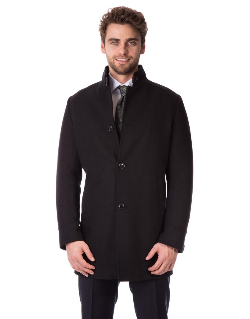 Klasyczny czarny płaszcz Adrian ZM0118