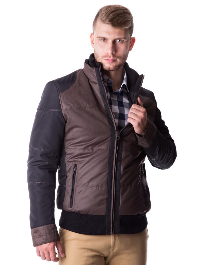 Brązowo czarna kurtka Bart ZA0065
