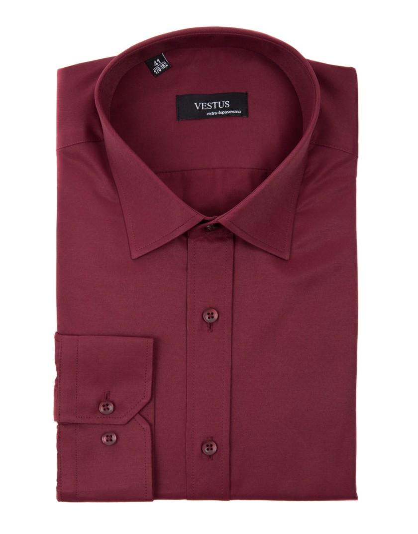 Bordowa koszula KT4016