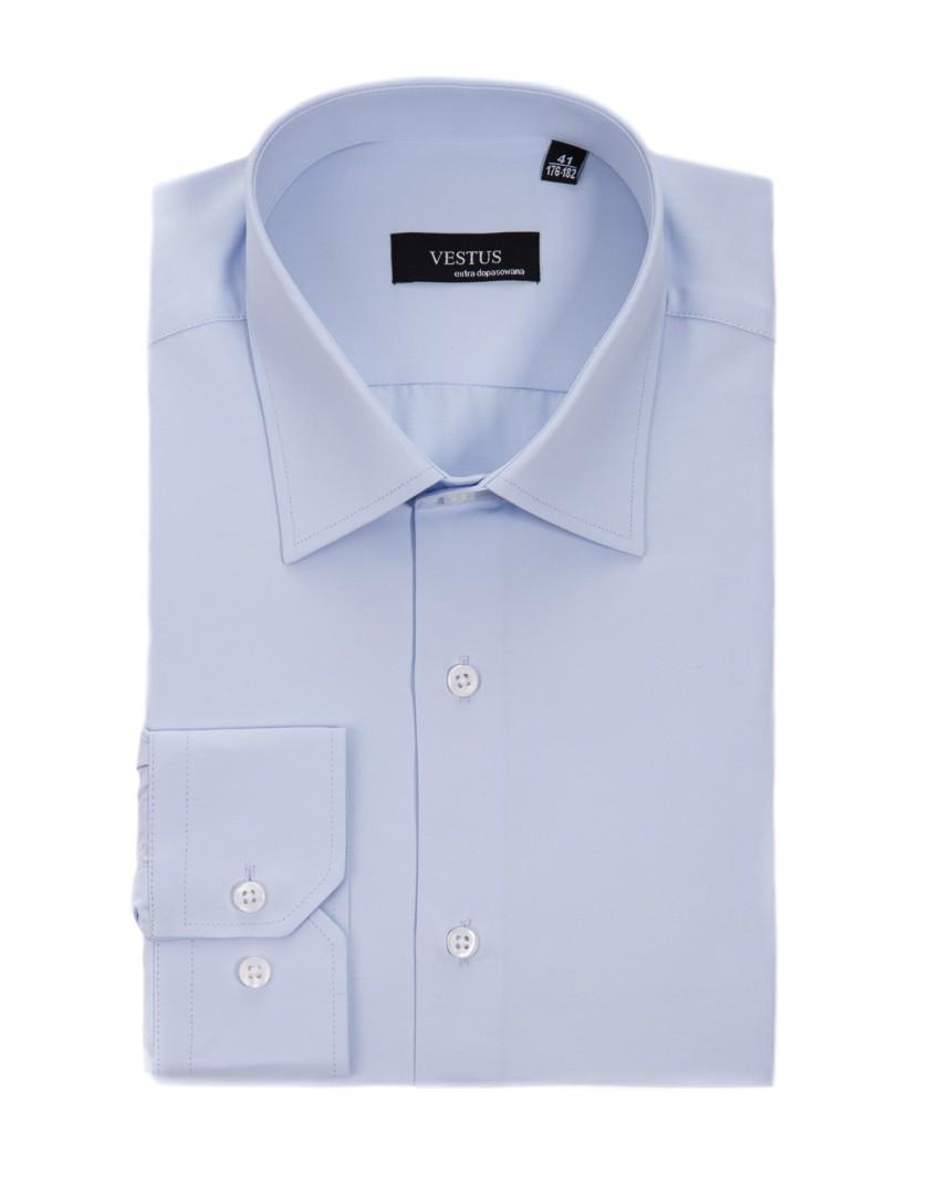 Błękitna klasyczna koszula KT4015