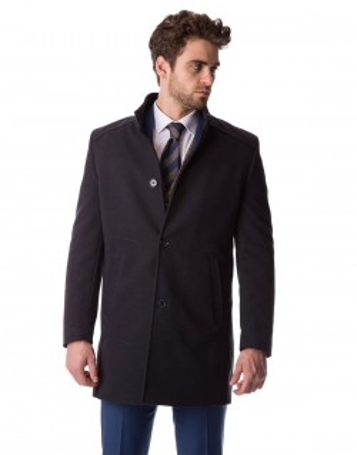 Klasyczny granatowy płaszcz Adam ZK0071