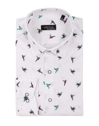 Koszula w kolibry KT4047