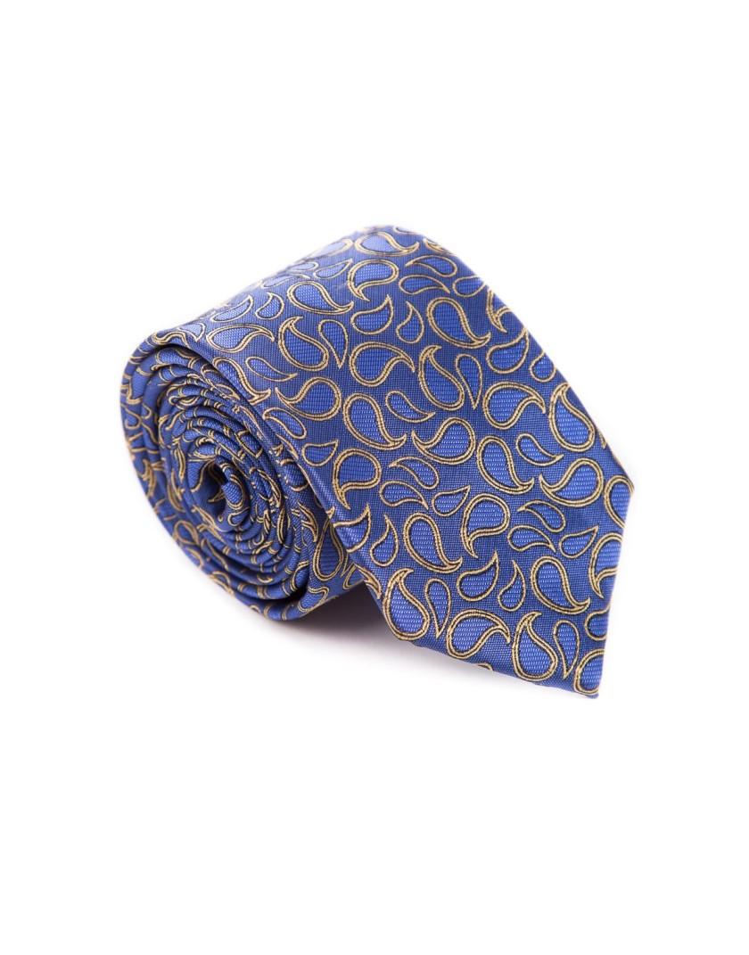 Krawat w złoty wzór