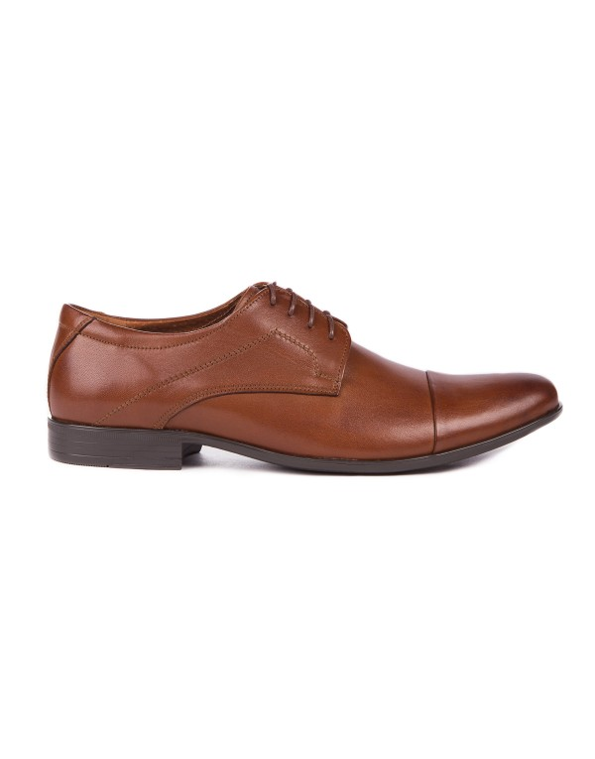 Brązowe buty męskie skórzane OP0328