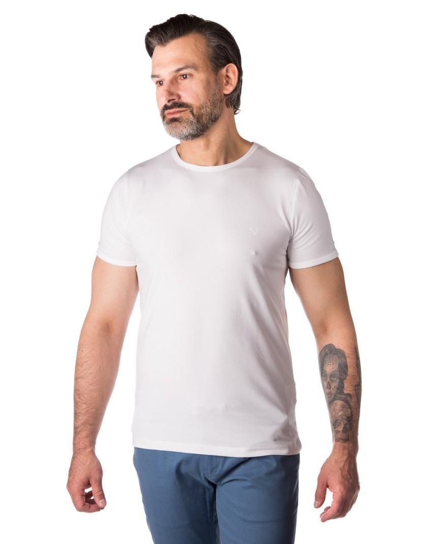 T-shirt biały FD0003