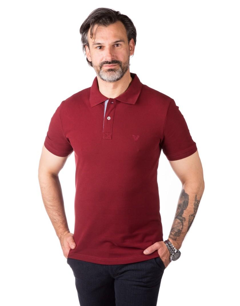 Koszulka polo bordowa HD0002