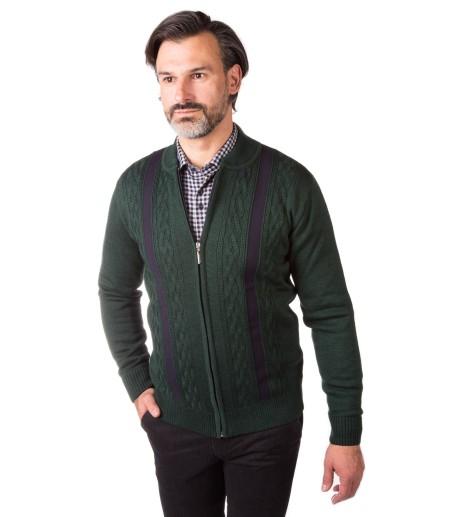 Zielony sweter męski CL0001