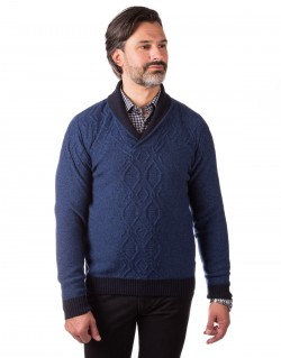 Niebieski sweter wełniany CL0002