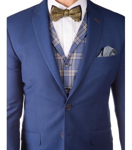 Niebieski garnitur męski GV1037