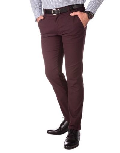 Bordowe spodnie chino SH0109