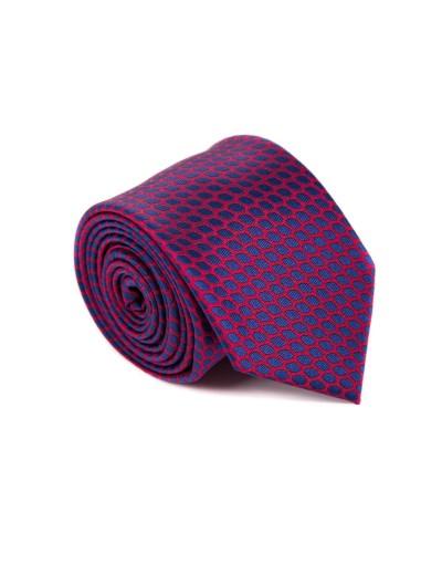 Krawat z czerwonym dodatkiem