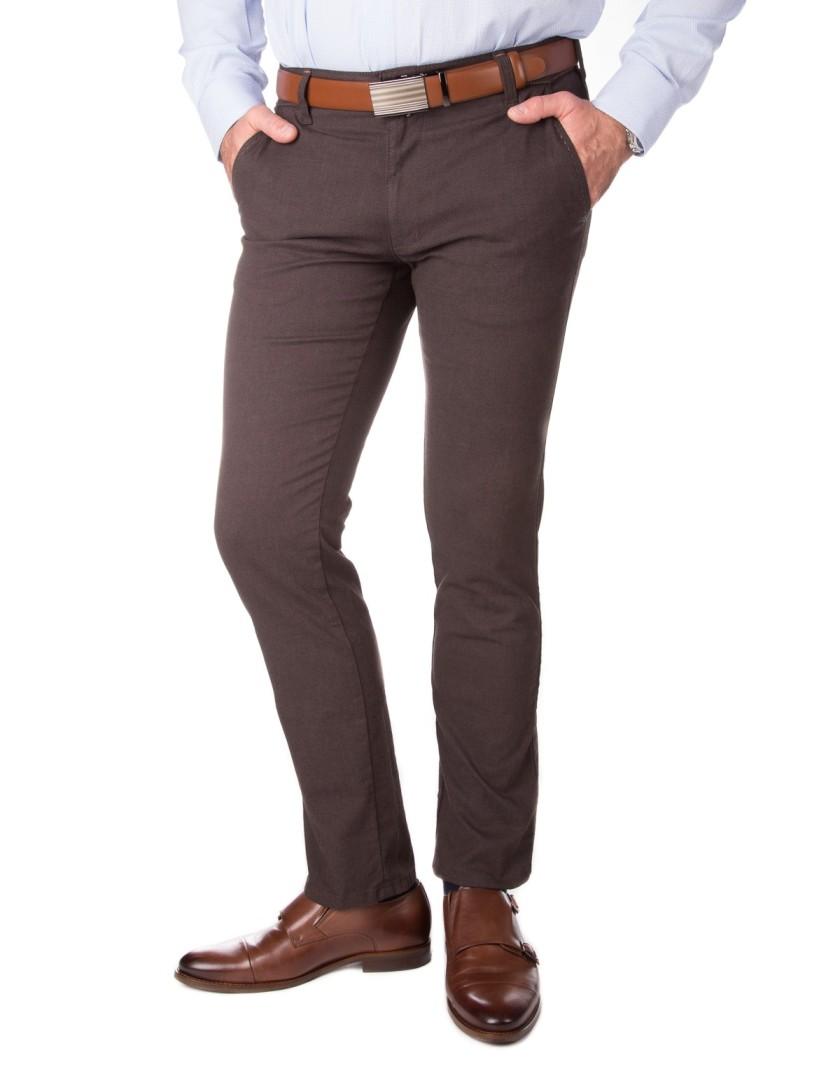 Brązowe spodnie chino SH0110