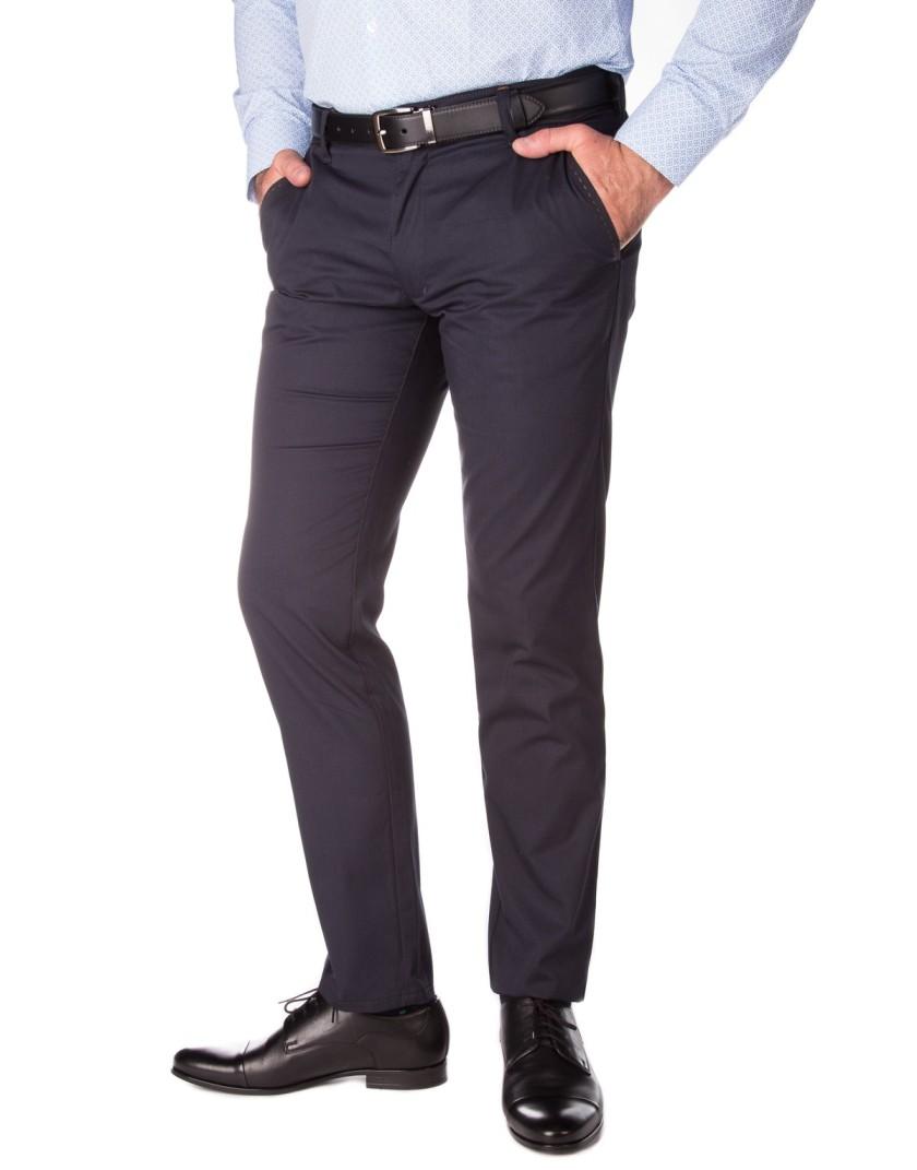 Granatowe klasyczne spodnie męskie SH0120