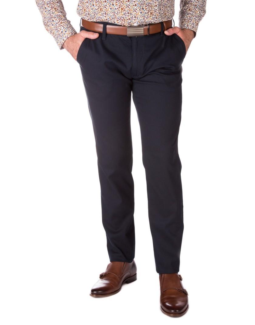 Klasyczne granatowe spodnie męskie SV0025