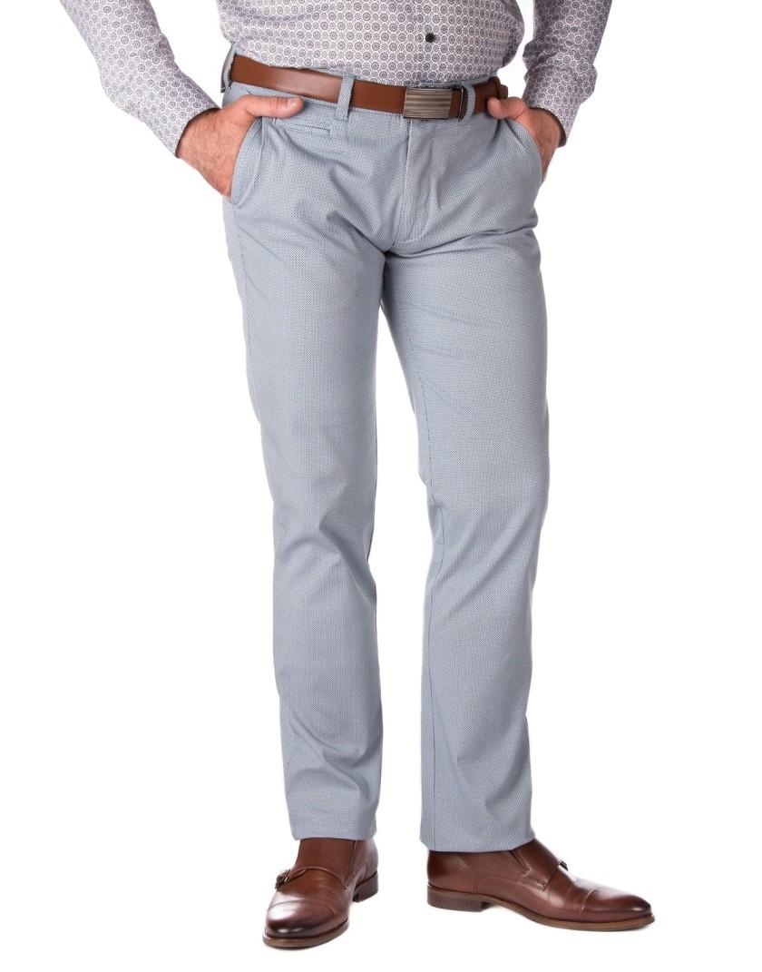 Szaro niebieskie spodnie męskie SV0082