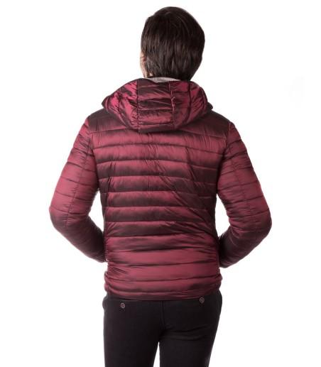 Bordowa pikowana kurtka ZP0135