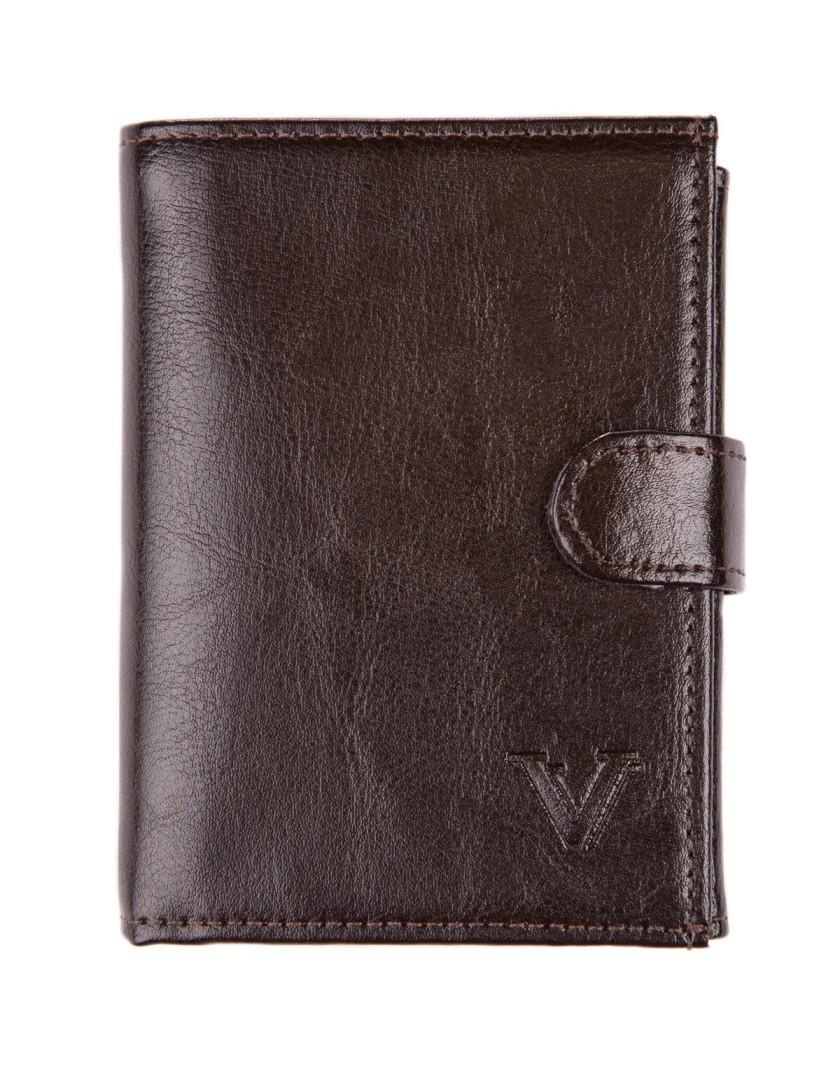Brązowy portfel z zapięciem DW2114