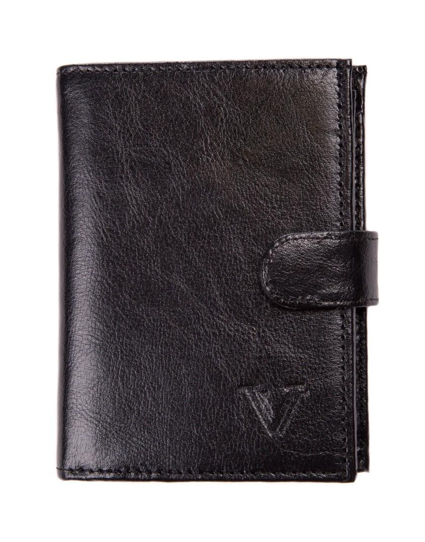 Czarny portfel z zapięciem DW2116