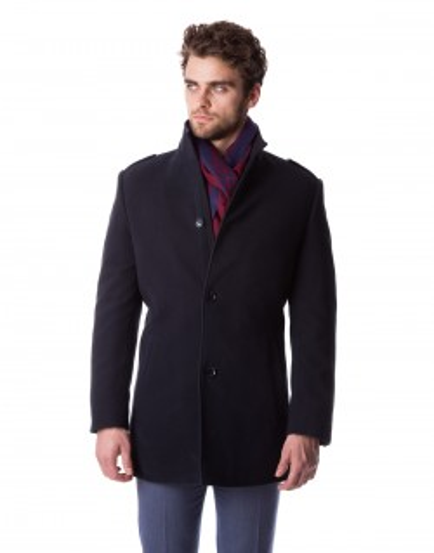Granatowy płaszcz Remigiusz ZL0106