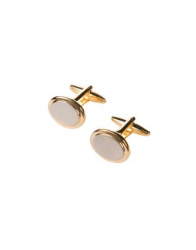 Złote spinki do mankietów ze srebrnym wypełnieniem
