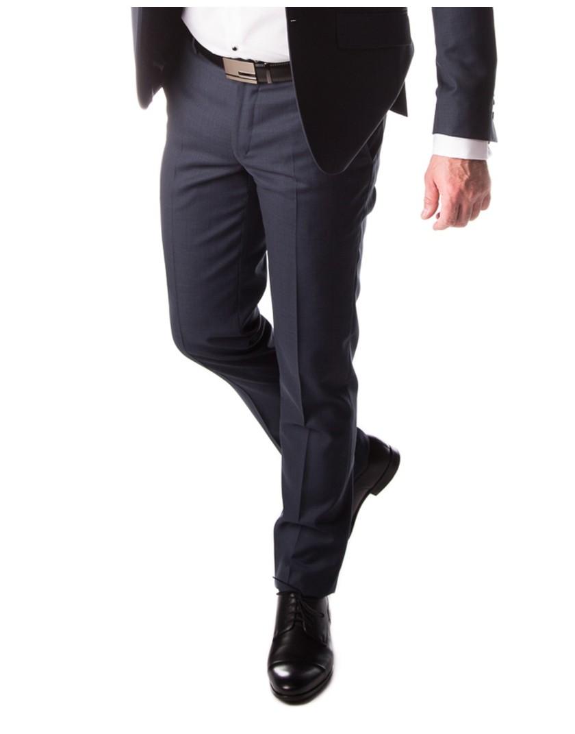 Garnitur ciemnogranatowy wełniany ST8001 - spodnie