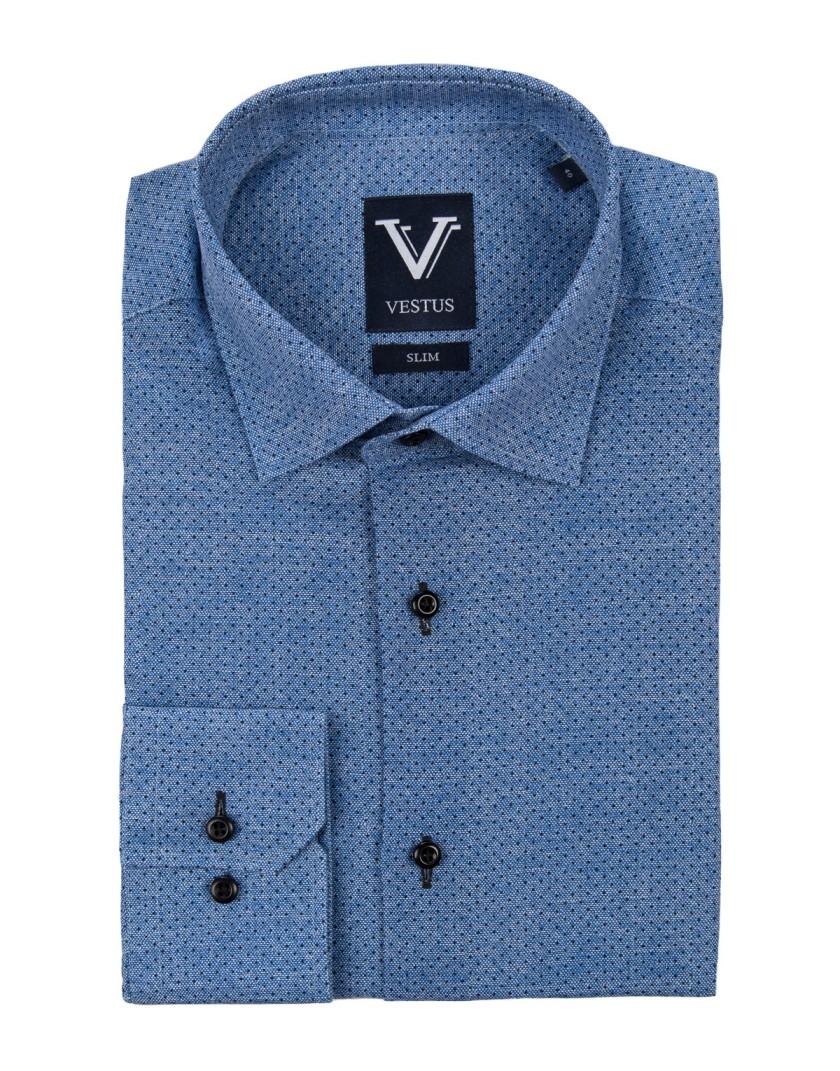 Granatowa koszula w kropki KE2010