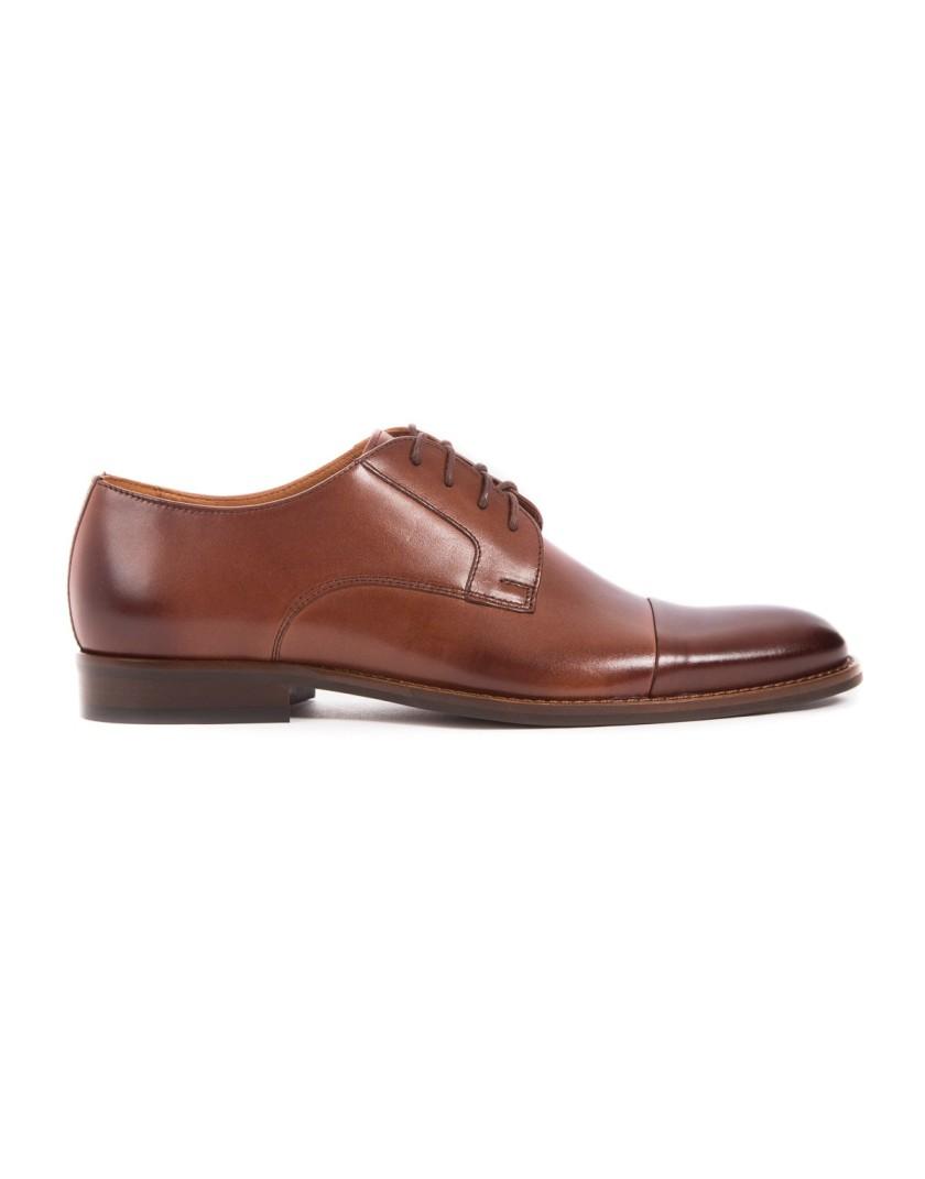 Brązowe buty wizytowe męskie OD3830