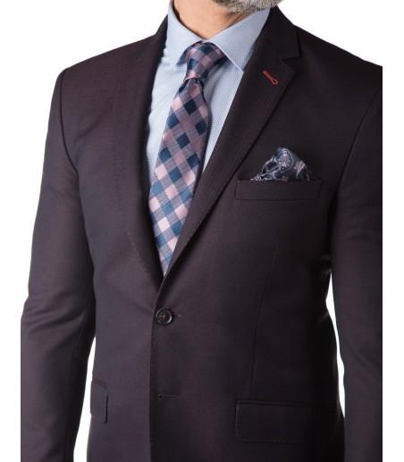 Śliwkowy garnitur męski GV1049