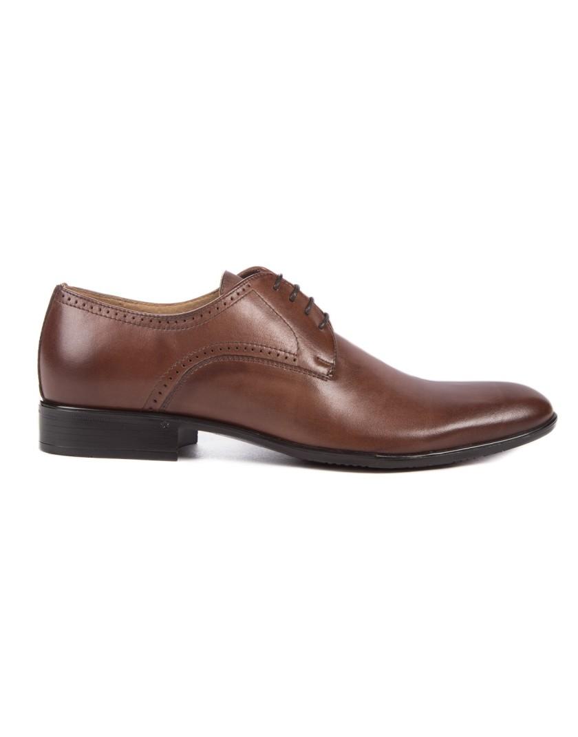 Brązowe buty męskie skórzane OT3279