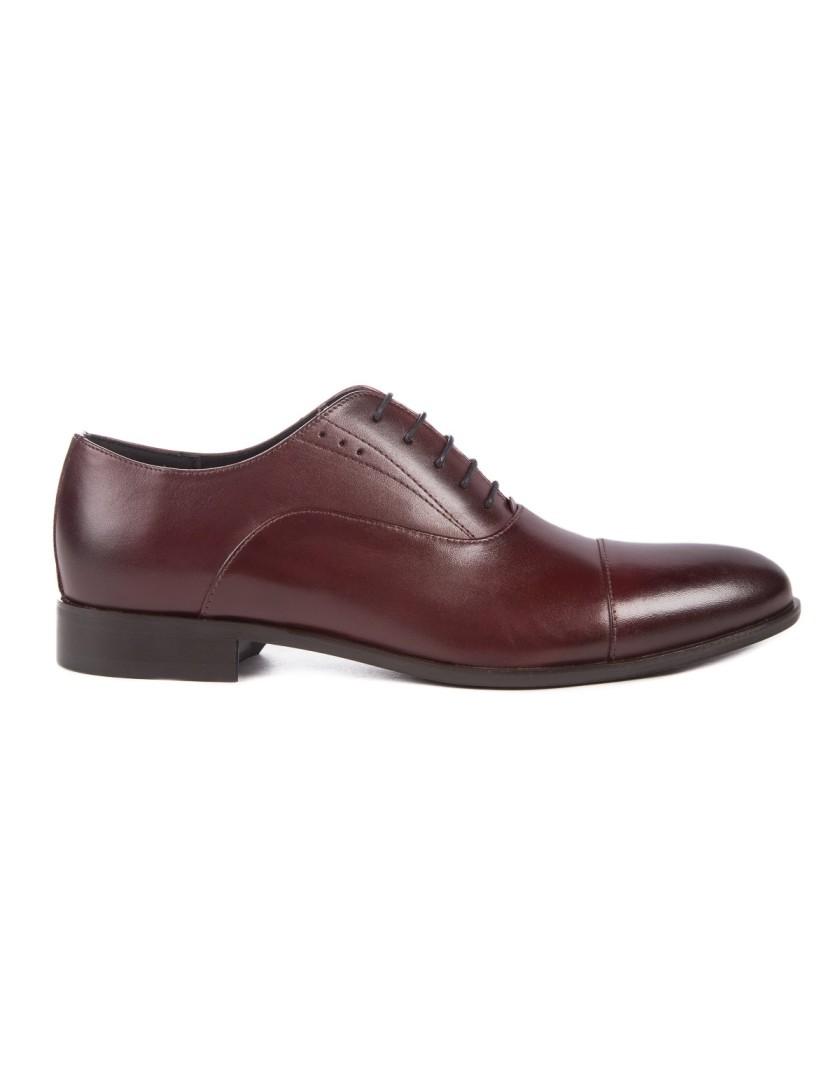 Bordowe buty męskie skórzane OT3595